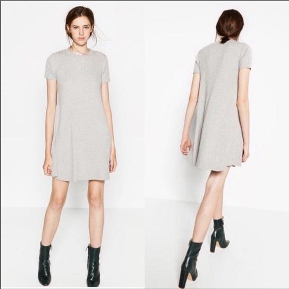 Zara Dresses & Skirts - Zara grey knit sweater dress
